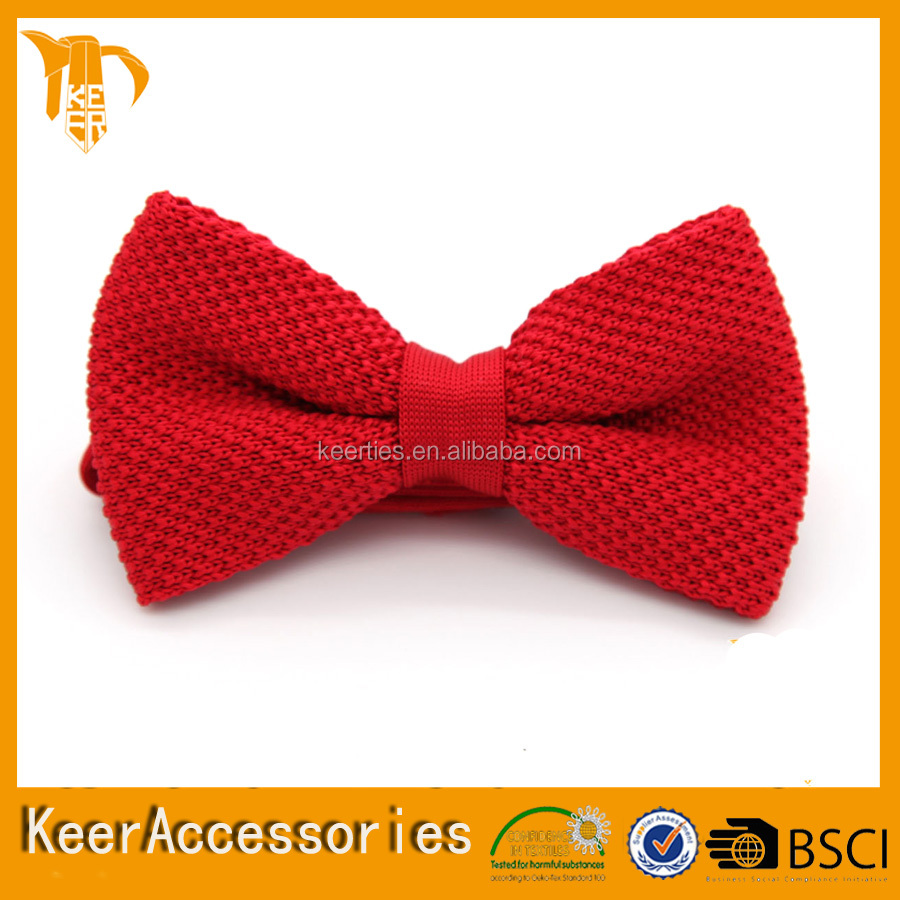 Fashion Men's Silk Dobby Colorful Knitted Bow Ties cheap red bow ties