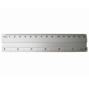 15cm straight aluminum ruler optical ruler