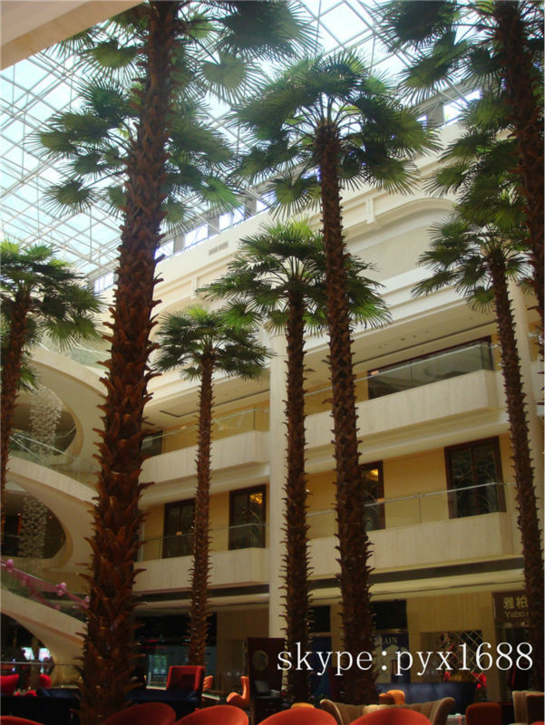 Artificial High Imitation Large Indoor Palm Tree In Ethnic Village ...