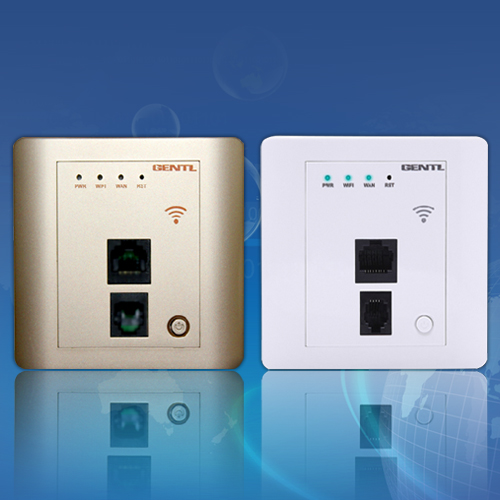 2 Wall Wireless Router for Hotel Rooms, Hotel Wifi AP,Embedded Metope Wireless Router