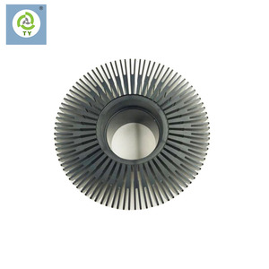 Custom design aluminum 6063 heat sink,aluminum Sun flower heatsink led