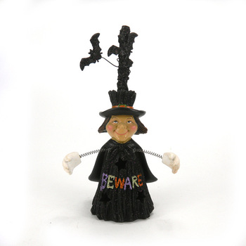wholesale custom resin Halloween witch statue souvenir decoration for sale