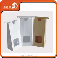 recyclable high quality brown paper bags with window