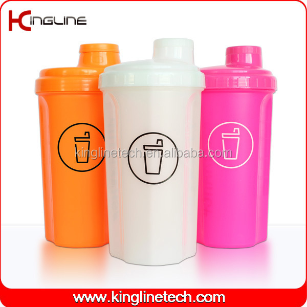 Protein Shaker Lid: 700ml Plastic Protein Shaker Bottle With Lid (kl-7028