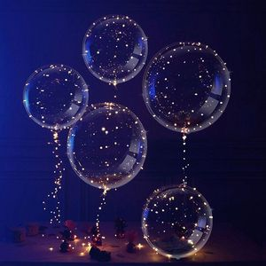 Outdoor Decorations Christmas Wedding Party Led Glowing Light Bobo Balloons