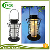 2018 New design Hot Selling Europe Feature Metal Material Hanging Solar Lantern Light