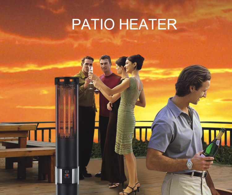 High Quality Custom Wholesale 1000W 2000W Outdoor Space Patio Electric Carbon Fibre Infared Panel Heater