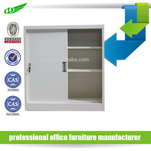 half height mini size lockable metal two sliding doors filing cabinet