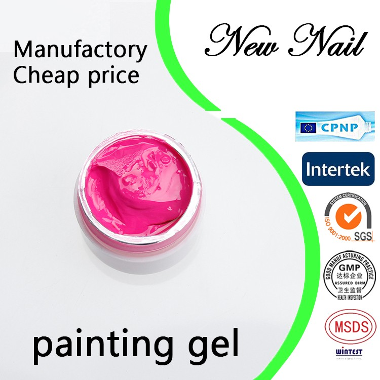 Guangzhou factory gel nail no label,nail art paint uv gel for color changing paint