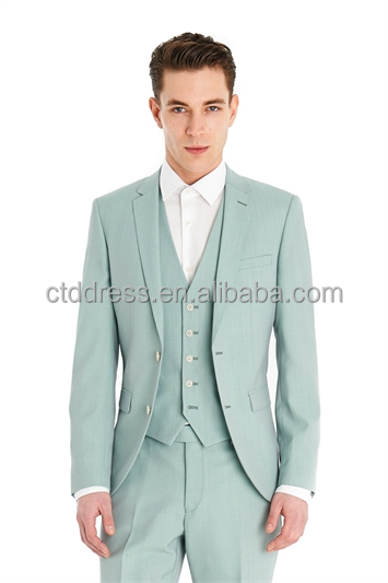 2014 High Quality Light Green Men's Fashion Three-piece Suit ...