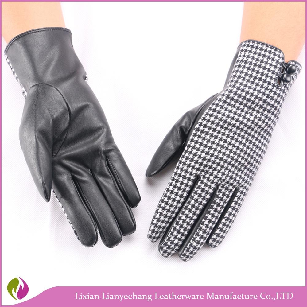 Sapphire Blue Liner Pu Gloves Winter Mittens Gloves Hand Gloves ...