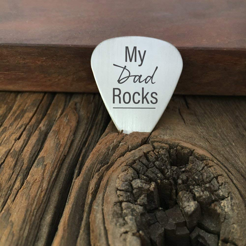 Get Quotations My Dad Rocks Guitar Pick Gift For Fathers Day Birthday Christmas