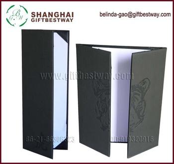 leather 2015 pu trifold menu holder buy pu trifold menu holder