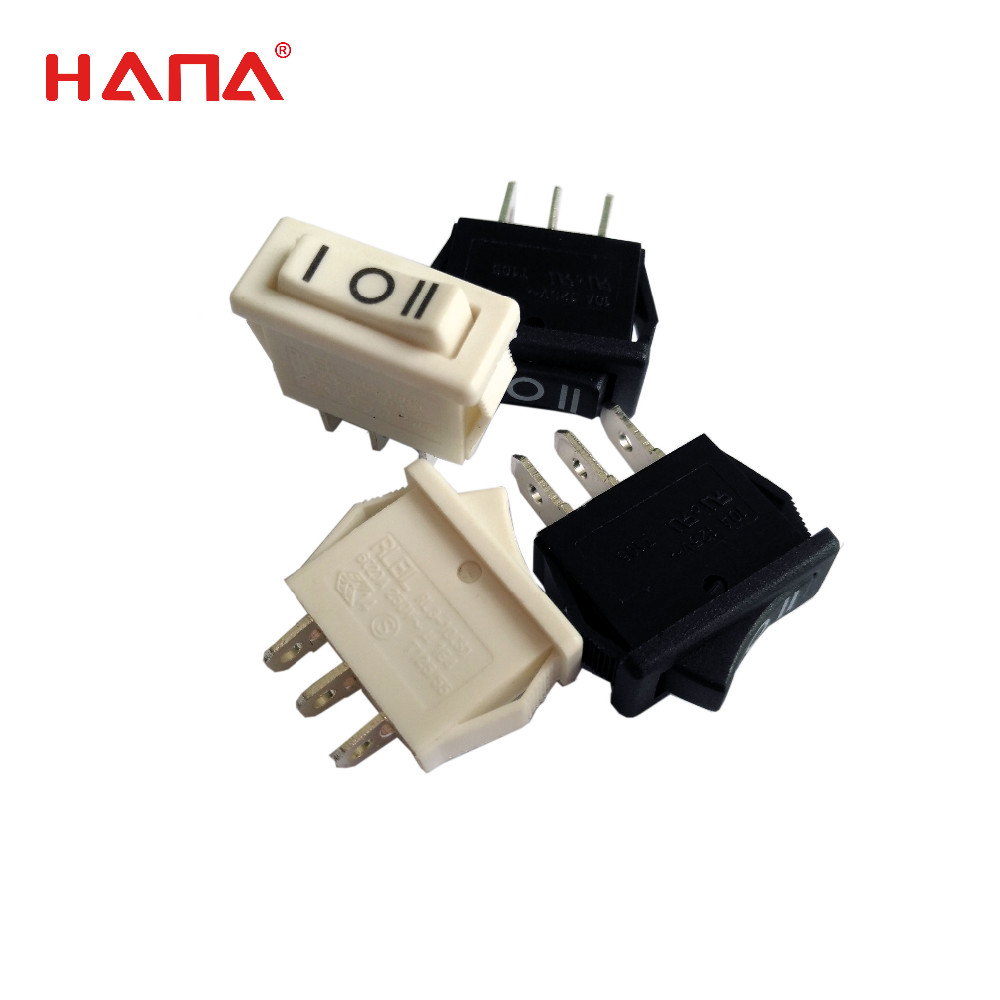 HANA hot sale t125 rocker switch 3 pins mini rocker switch
