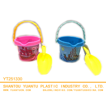 plastic pail and shovel toys set for kids beach tool toy set