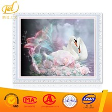2017 New Style Swan Love with Frame Artistic Wholesale Diy Oil Painting Paint Art On Canvas By Numbers for Home & Garden a247