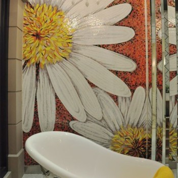 Ztclj jy jh d01 b handcrafted art daisy kitchen murals for Daisy fuentes wall mural