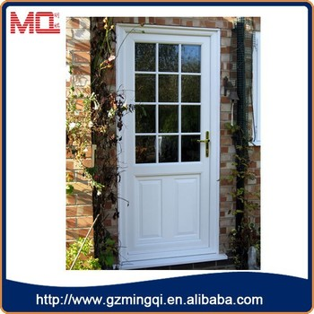 Cheap Price Pvc Double Glass Single Panel Small Exterior Door With