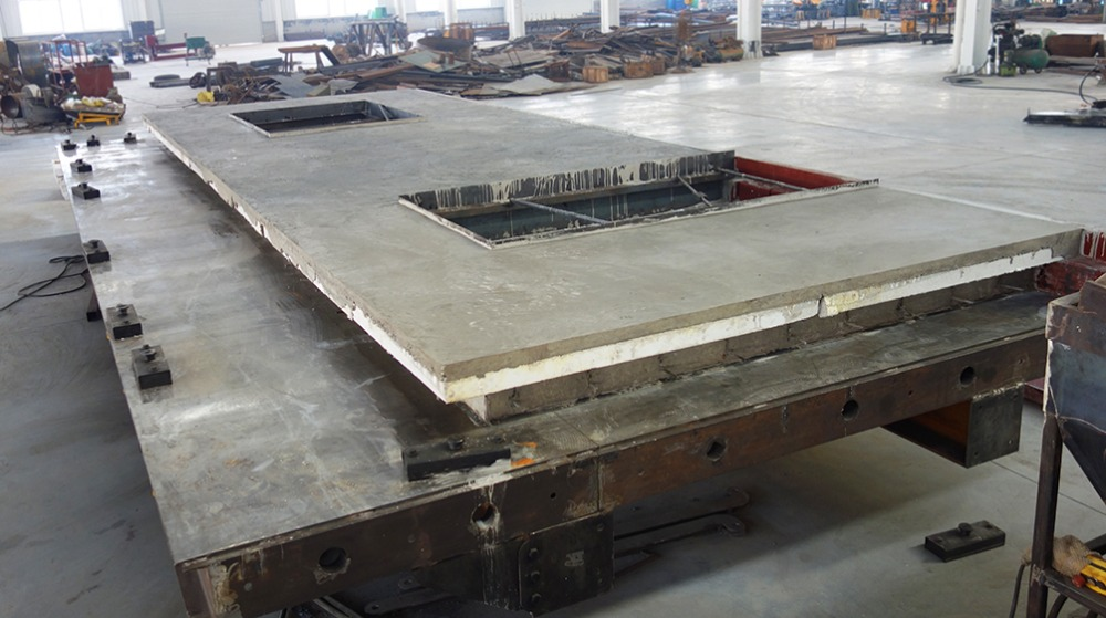 Precast Concrete Tilting Table For Wall Panel Molds With