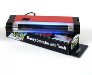 UV lamp Money Detector with Torch 2 in 1 Red/Black Currency Detector