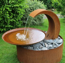 80 cm CORTEN staal water kom decoratieve <span class=keywords><strong>tuin</strong></span> fontein
