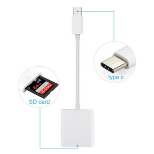 USB C SD Card Camera Reader 3.0 Type-C Flash Memory Card Reader for USB C Device