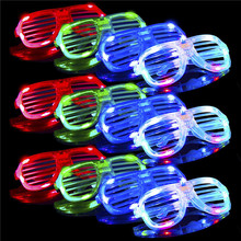 Glow in The Dark LED Gläser Groß Licht Up Rave Gläser Neon Party Supplies Party Favors <span class=keywords><strong>Shutter</strong></span> Shades Kleine Geschenke