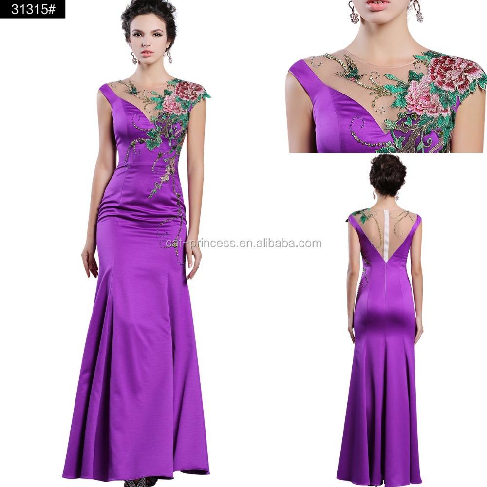 Venta al por mayor vestidos para bodas tarde noche-Compre online los ...