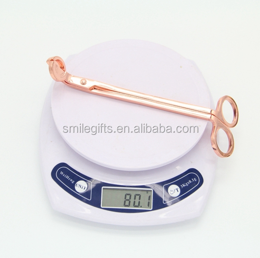 Amazon Best Seller Rose Gold Candle Tools Wick Trimmer Wick Scissors