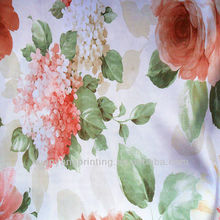 waterproof Satin flower patterned Poly Coconut Carbon Yarn woven printed Fabric for clothing