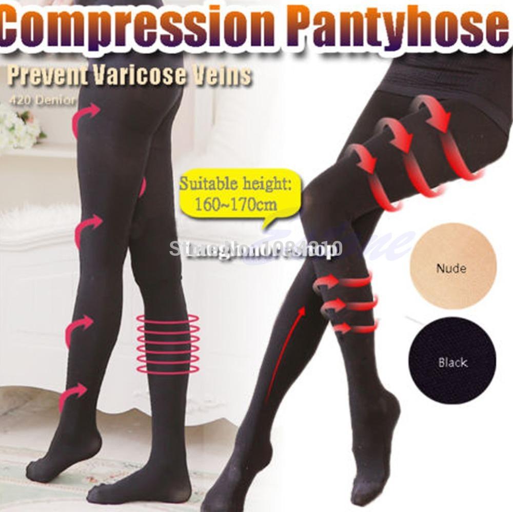 Мода женская красота стройную ногу сжатия формирователь сжигать жир тонкие носки колготки