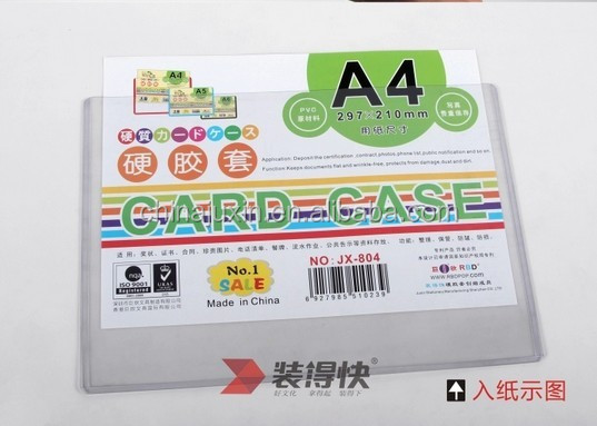 Transparent clear plastic card holder clear card holder