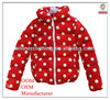Newest Fashion New Designs Dot Prints Cute Winter Coat for Kids