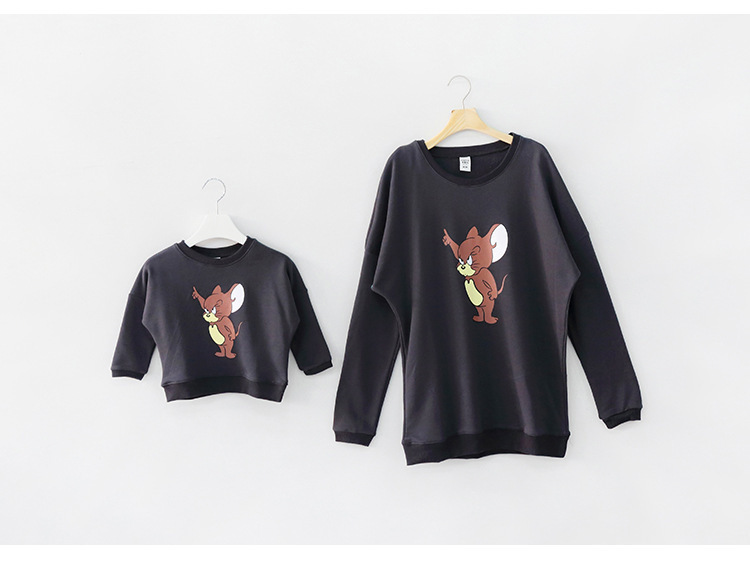 new fashion 2015 family sweatshirt spring family matching outfits set tees mother and son/daughter shirts kids cotton tops