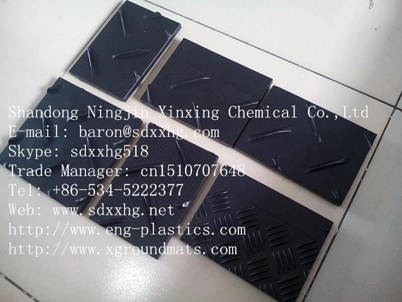 extruded surface tread pattern HDPE oil drilling rig floor mats,china Ground Protection Mat of HDPE Sheet hdpe sheets and ldpe s
