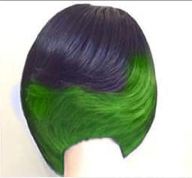 Парики из искусственных волос без шапочки-основы короткий прямые черный парик из натуральных волос Карнавальные парики