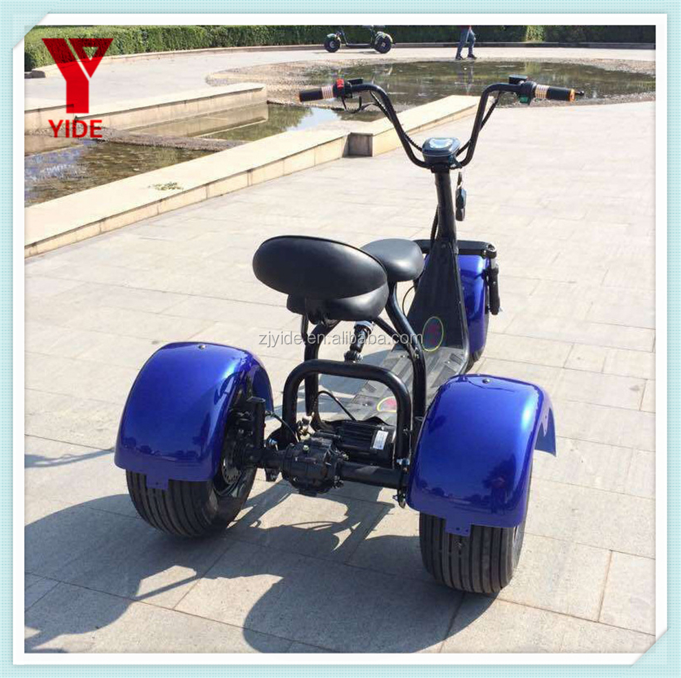 YIDE New Design Hot Selling 1000W 2 Passenger 3 Wheel Electric Scooter