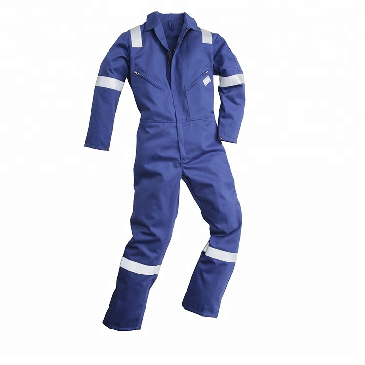 Wholesale reflective hi vis coal mine workwear Navy blue coveralls 3m