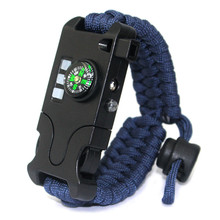 Super Design Multifunktions LED licht paracord überleben armband mit kompass messer <span class=keywords><strong>pfeife</strong></span> individuelles logo