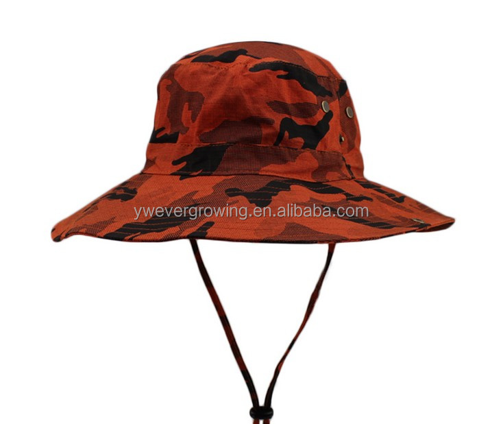 Camouflage Bucket Hat With String 852320af416