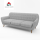 Queenshome modern french fabric sofa and price sofas for living room furniture small cebu 3 pcs leon 2 3-seat sofa set foam seat