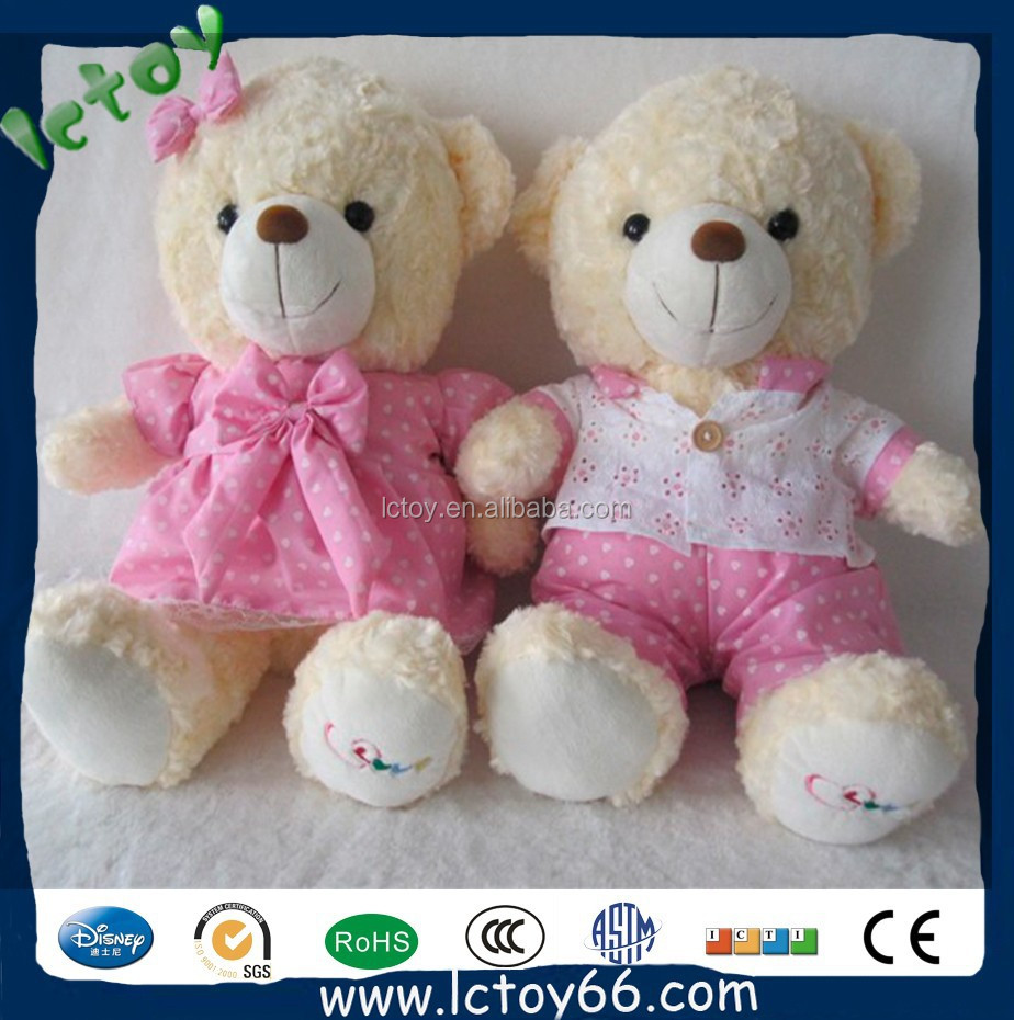 Wholesale Custom Couple Cute Teddy Bears For Valentines