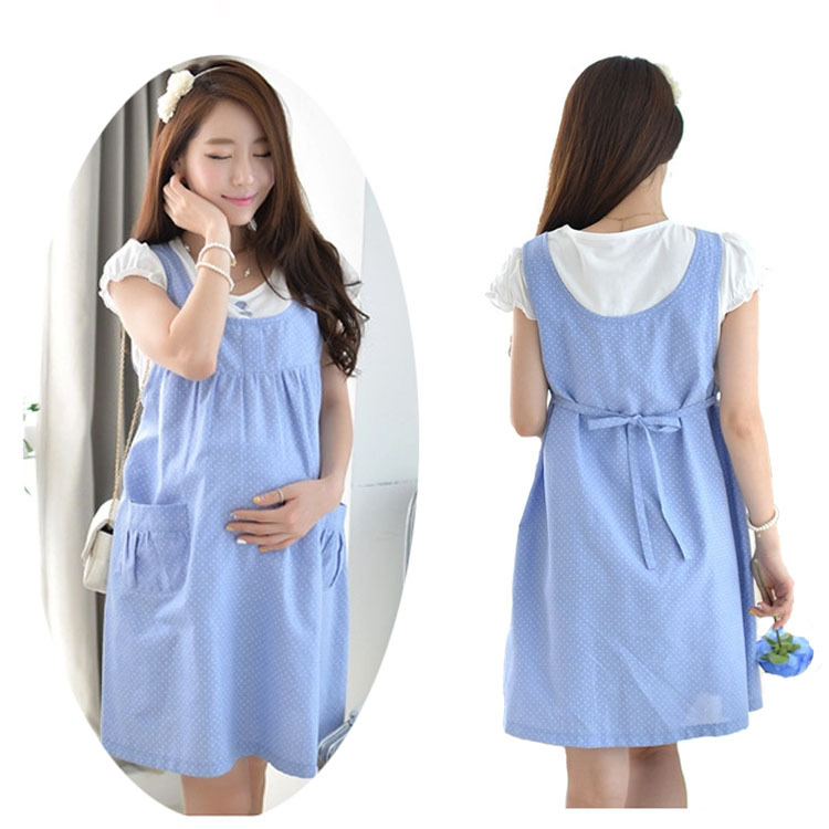 f1d5f59a7f6 Get Quotations · Maternity Dresses Clothes For Pregnant Women Cotton Casual Maternity  Dress Large Stripe Vestido Amarelo --