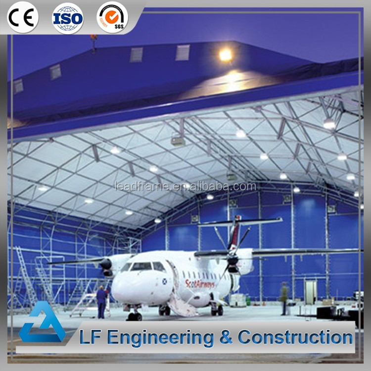 Prefabricated Steel Space Frame Aircraft Hangar for Sale