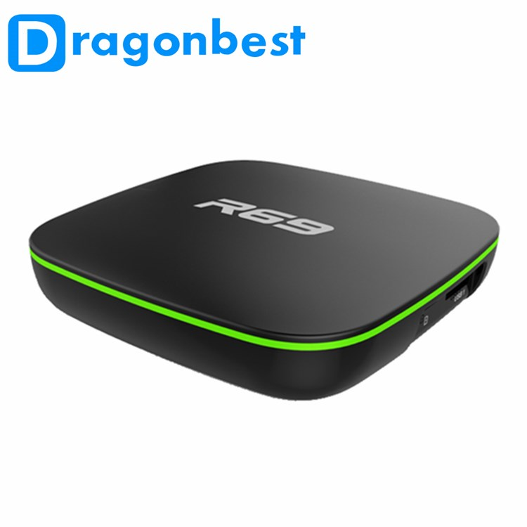 Astuto di android tv mini box per la tv box iptv arabo R69 Allwinner H3 2g 16g astuto di android tv box android dvb-s2