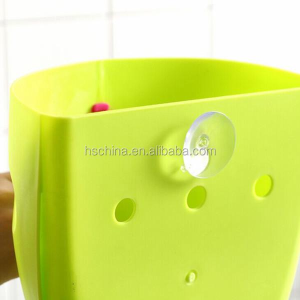 Cute Plastic Bathroom Sundries Organizer Baby Bath Toy Scoop With Drainage  Holes