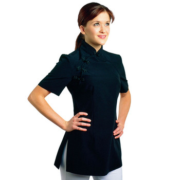 Custom thai elegant spa uniform tops buy spa uniform for Spa uniform tops