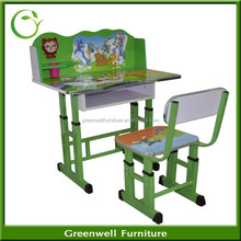 Non-toxic PB Material Kids Cartoon Study Table Furniture