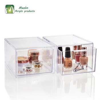 2018 Wholesale Stackable Clear Acrylic Cosmetic Storage And Makeup Palette  Organizer Drawers , Buy Acrylic Storage Box,Stackable Clear Acrylic Storage