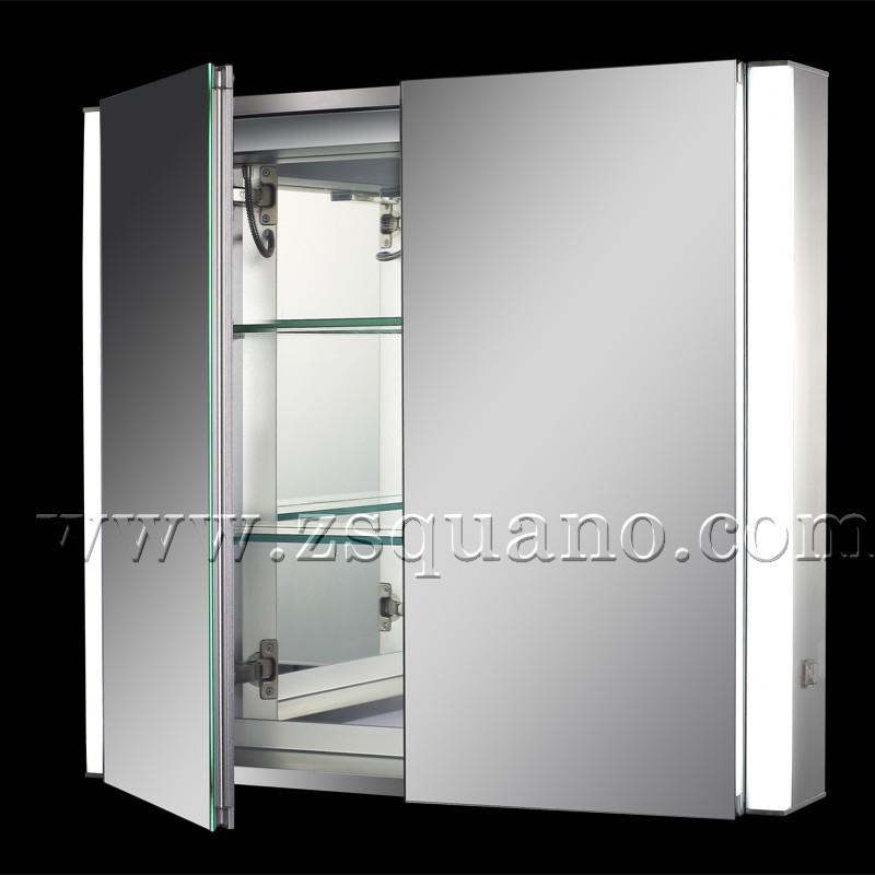 moderne salle de bain lumineuse miroir armoire avec prise rasoir meuble lavabo de salle de bain. Black Bedroom Furniture Sets. Home Design Ideas